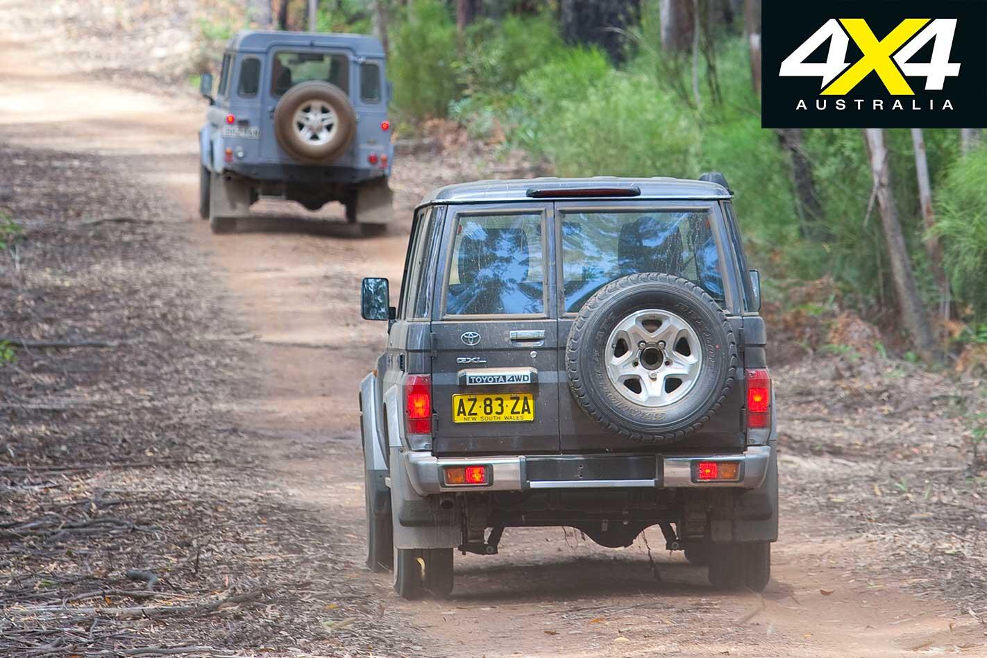 2009 Land Rover Defender Toyota Land Cruiser 76 Series Rear Jpg
