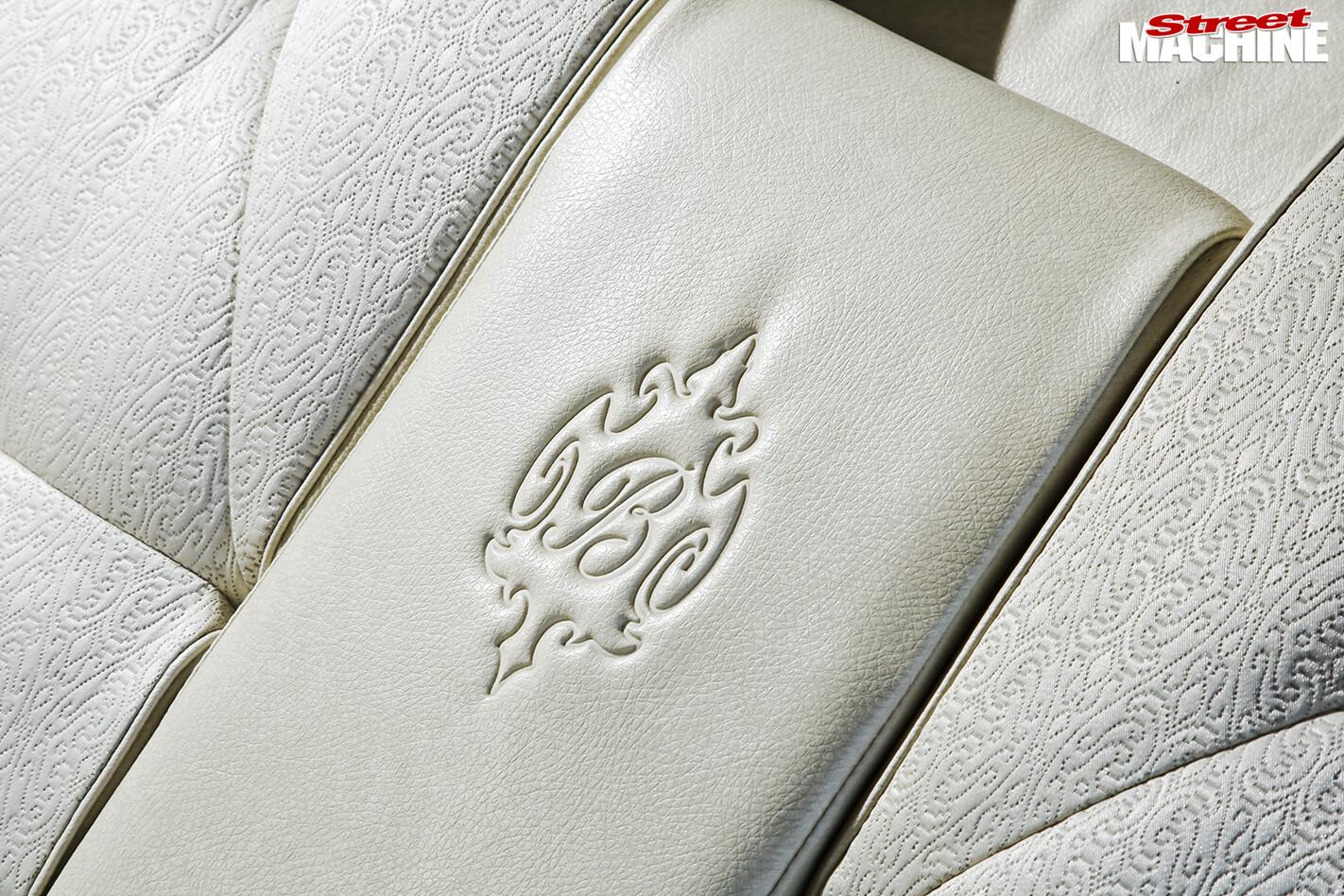 Holden -Brougham -interior -seats -stitching -detail