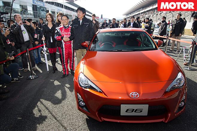 Tetsuya Tada-San with a Toyota 86
