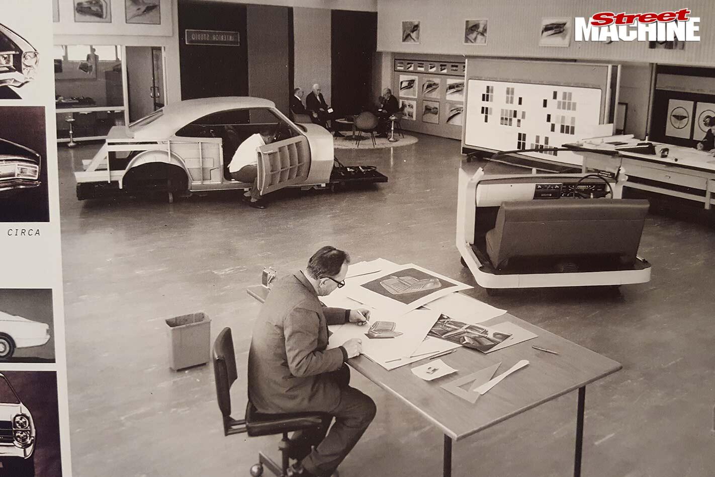 Holden Monaro interior design area