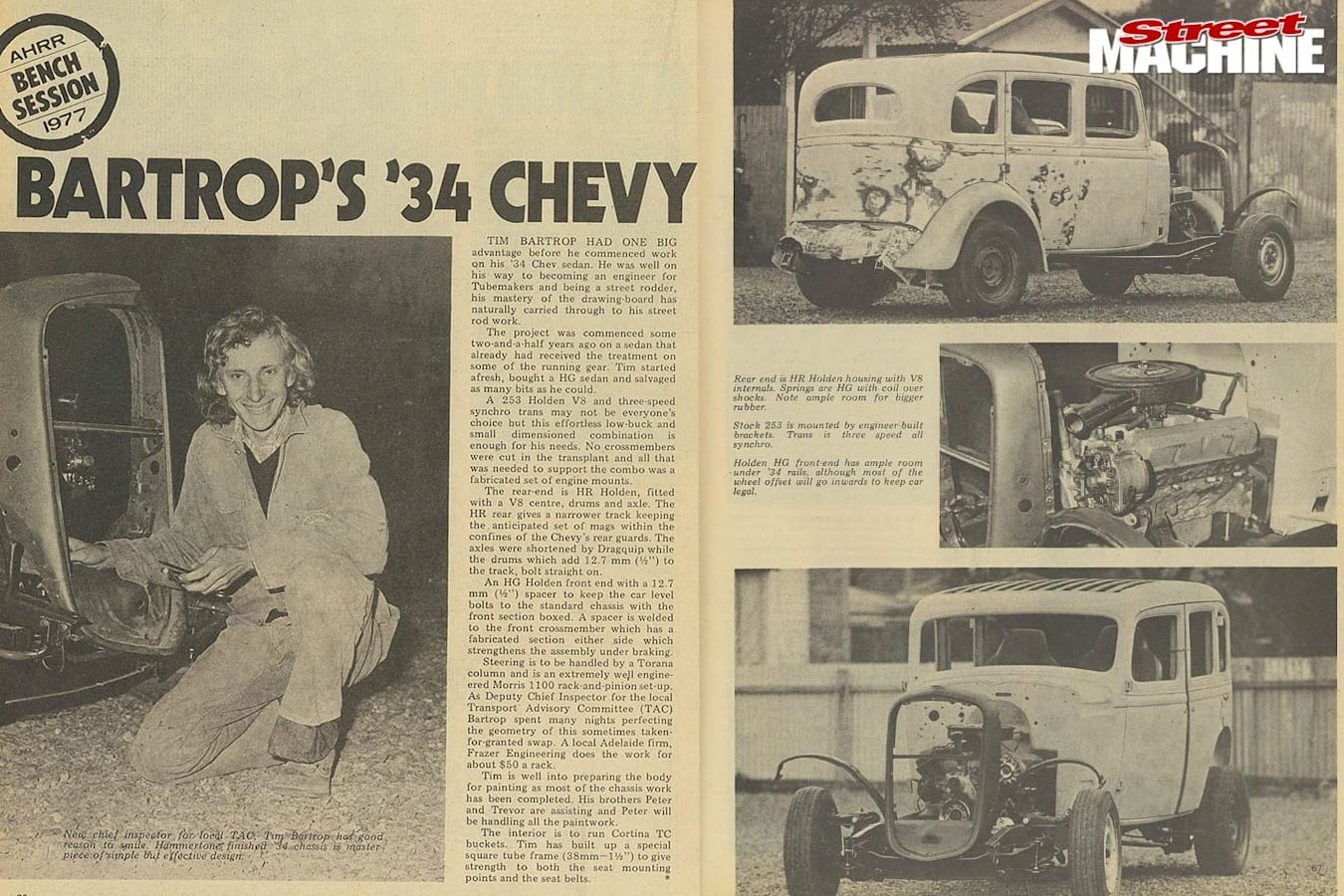 1934 Chevy newspaper clippings
