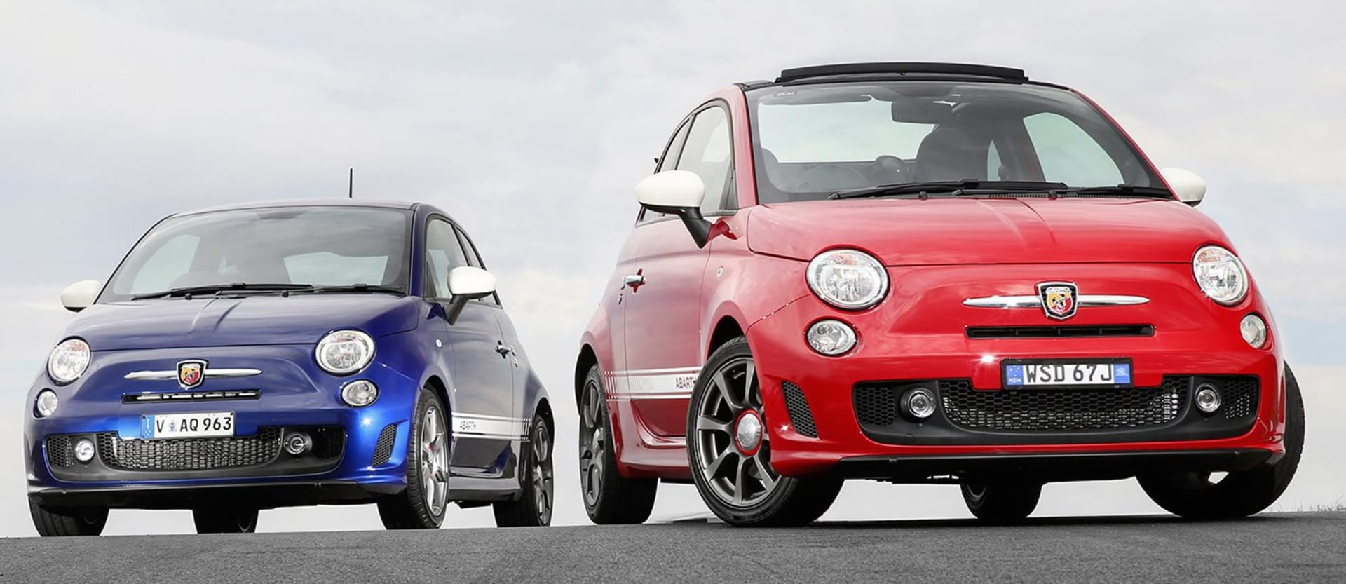 Fiat 595 Abarth Front Blue Red Jpg