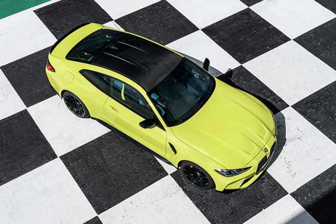 2021 BMW M4 Competition has a carbon fibre roof as standard.
