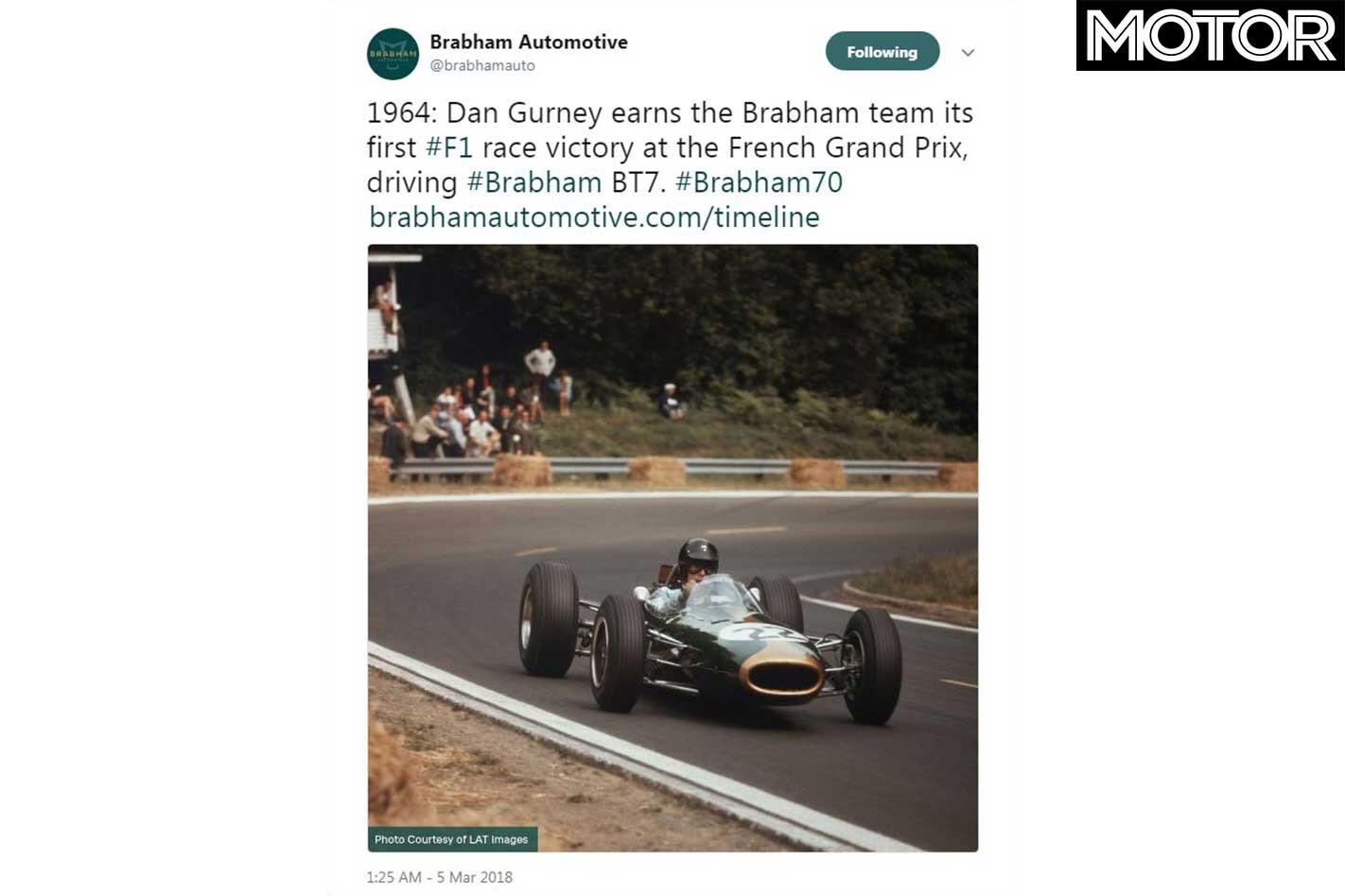 Brabham BT 62 Honour Dan Gurney Instagram Jpg