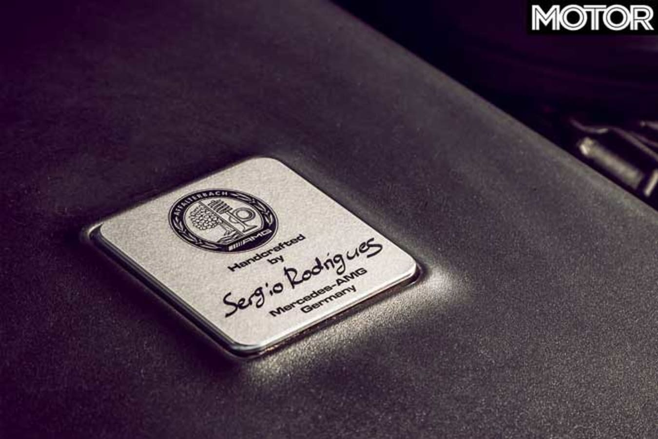 Australia Car Manufacturing History HSV AMG Engine Build Plate Jpg