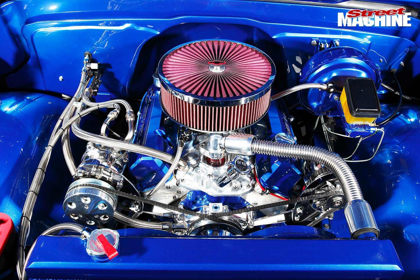Chev C10 engine bay