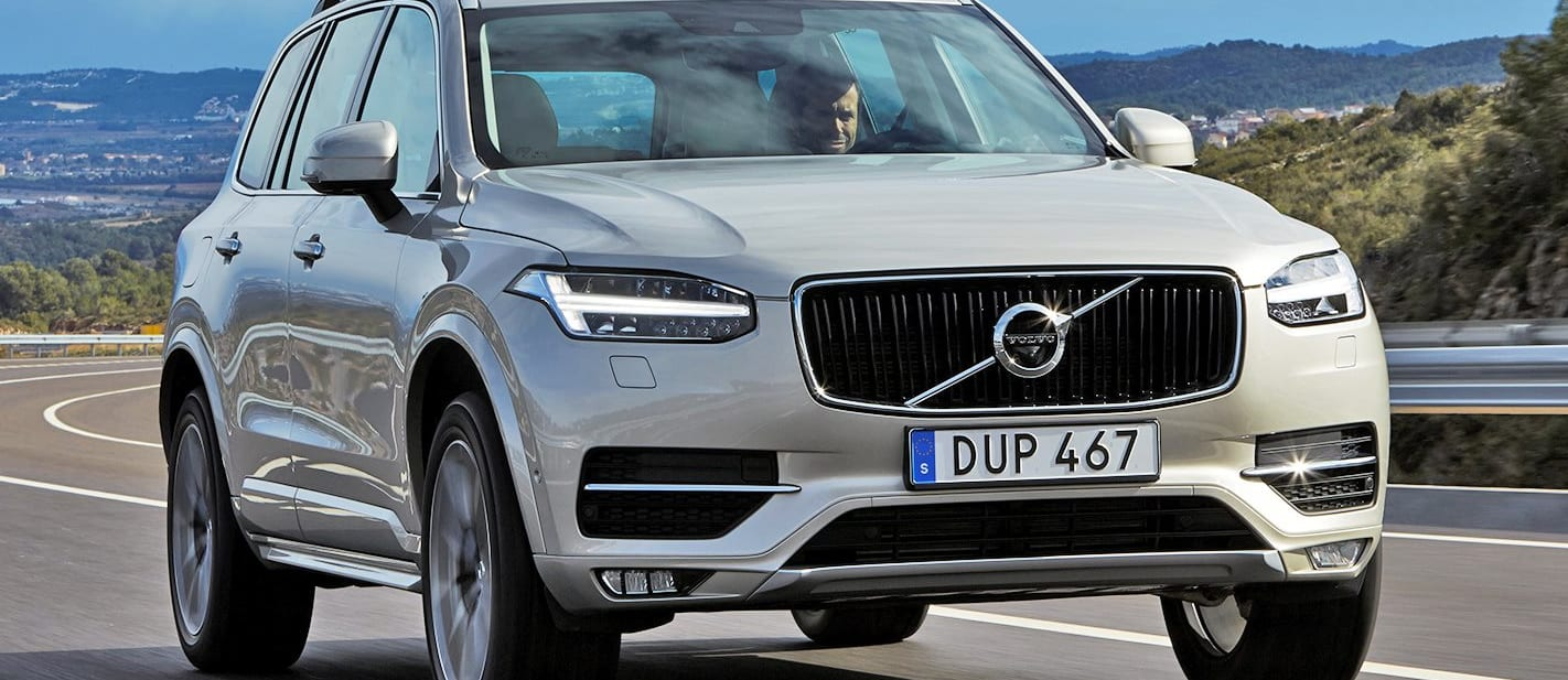 Volvo XC 90 Front On Mountain Road Jpg