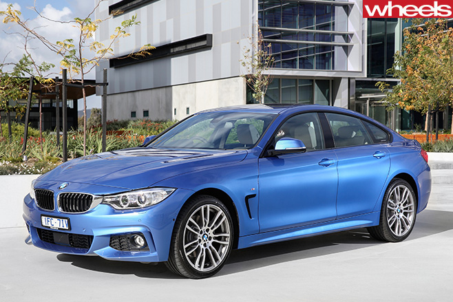 BMW-4-series -blue -front -side