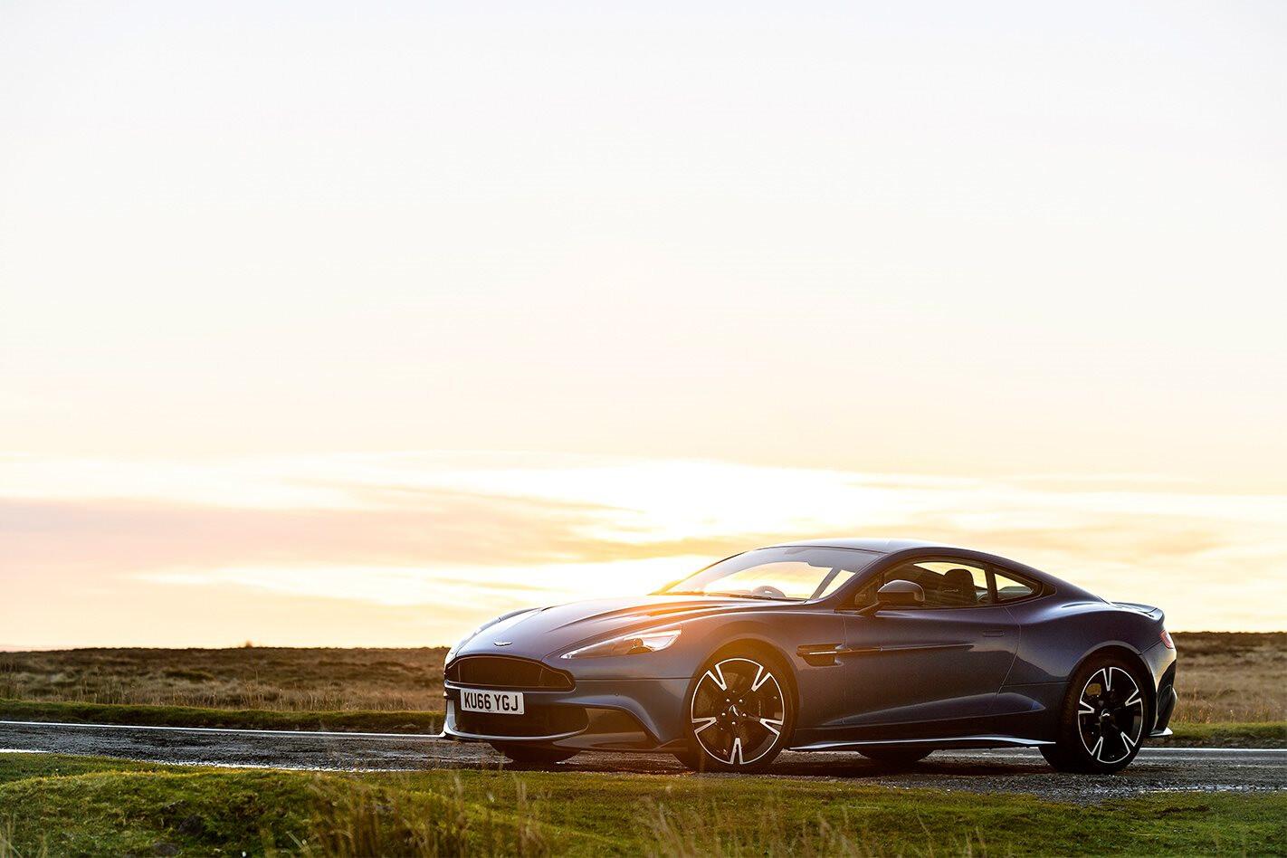 Aston Martin Vanquish S 2017 front side Sunset