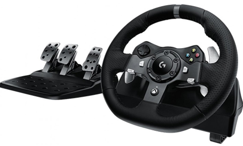 racing sim wheel & pedals