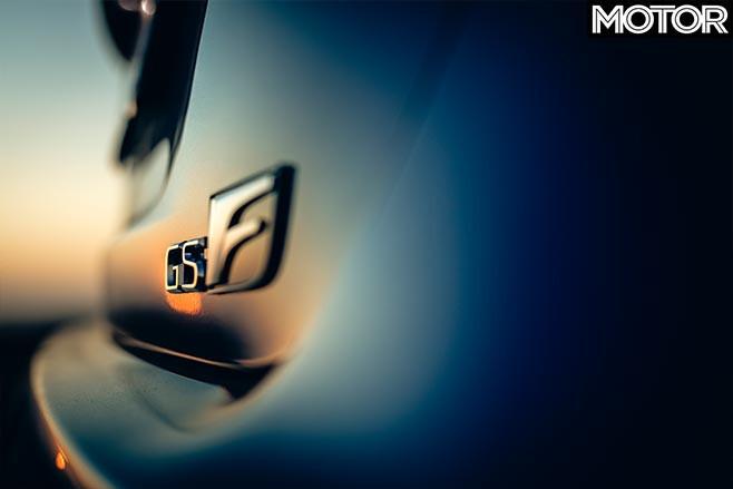 Lexus GS F badge