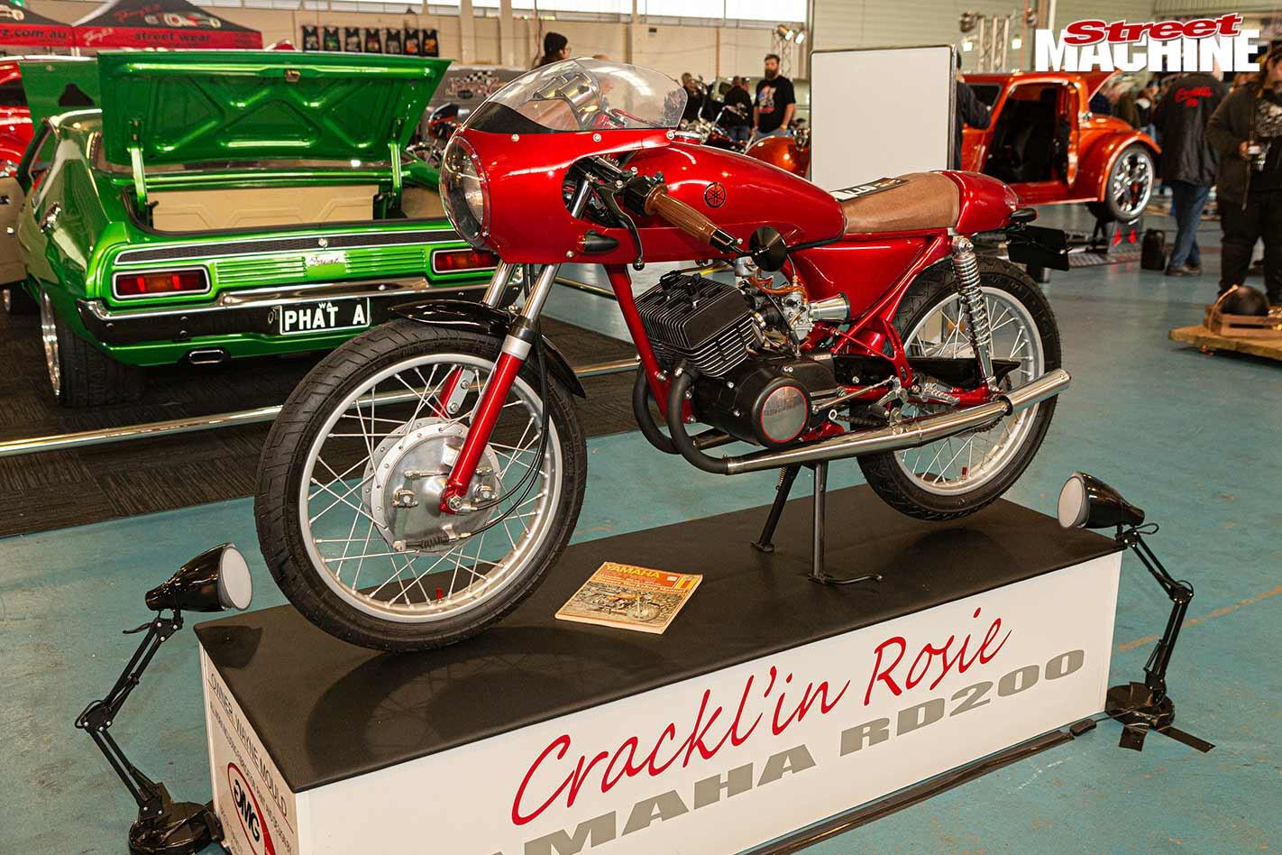 Yamaha RD200 Cracklin Rosie motorcycle