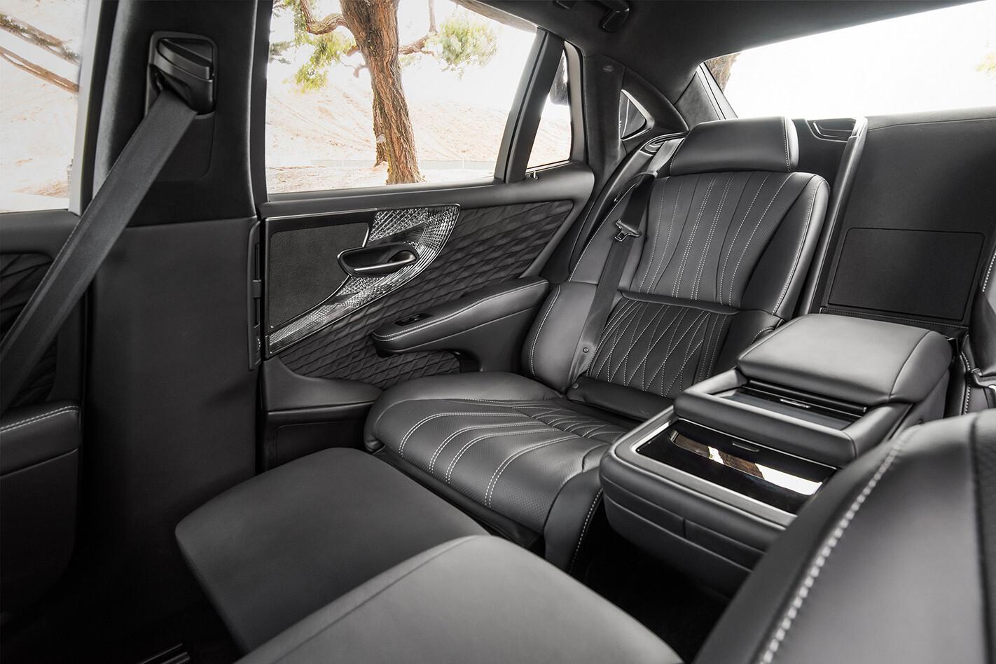 Lexus Ls 500 Sport Luxury Interior Rear Jpg