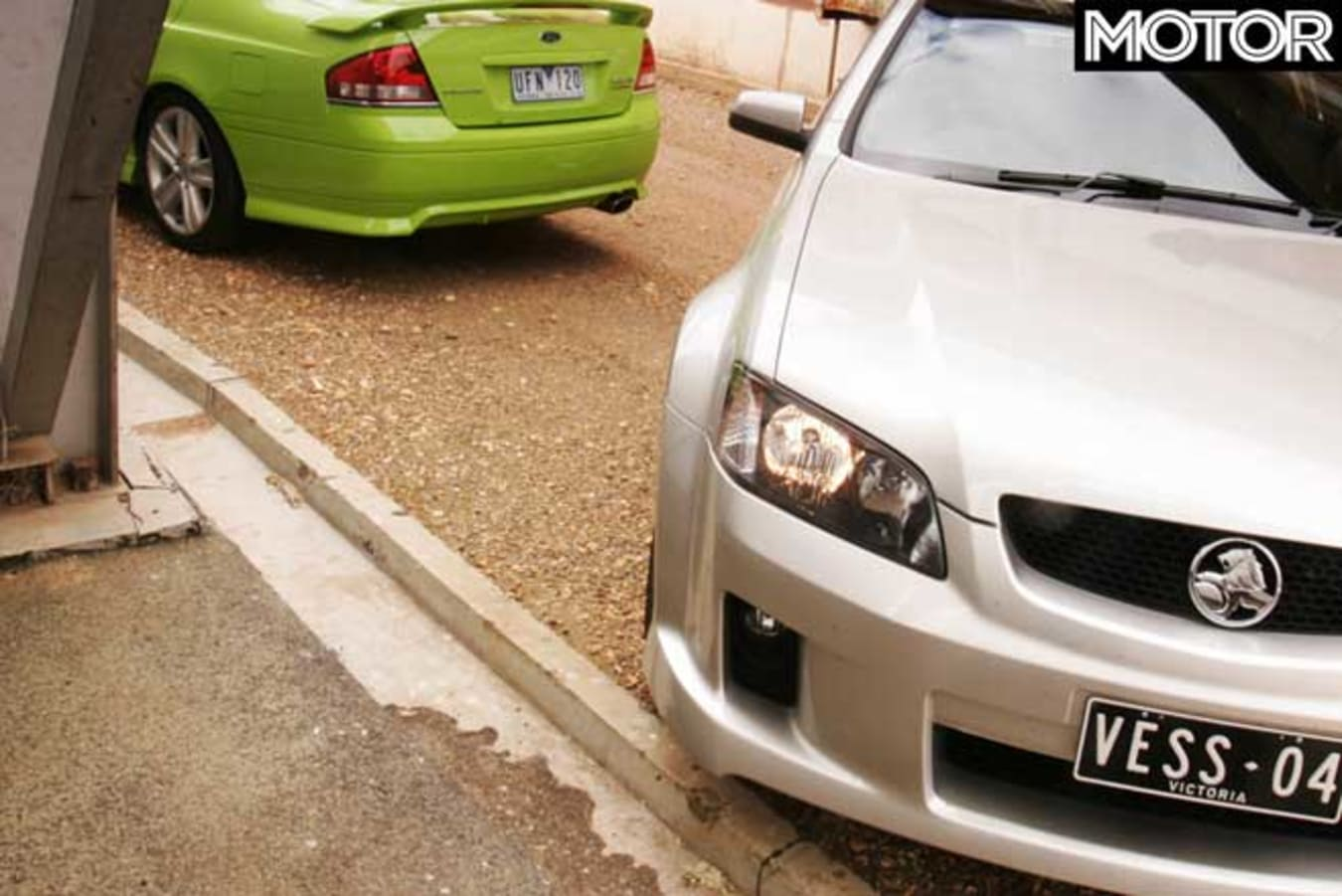 2006 Holden VE Commodore SS V Ford Falcon XR 6 T Comparison Jpg