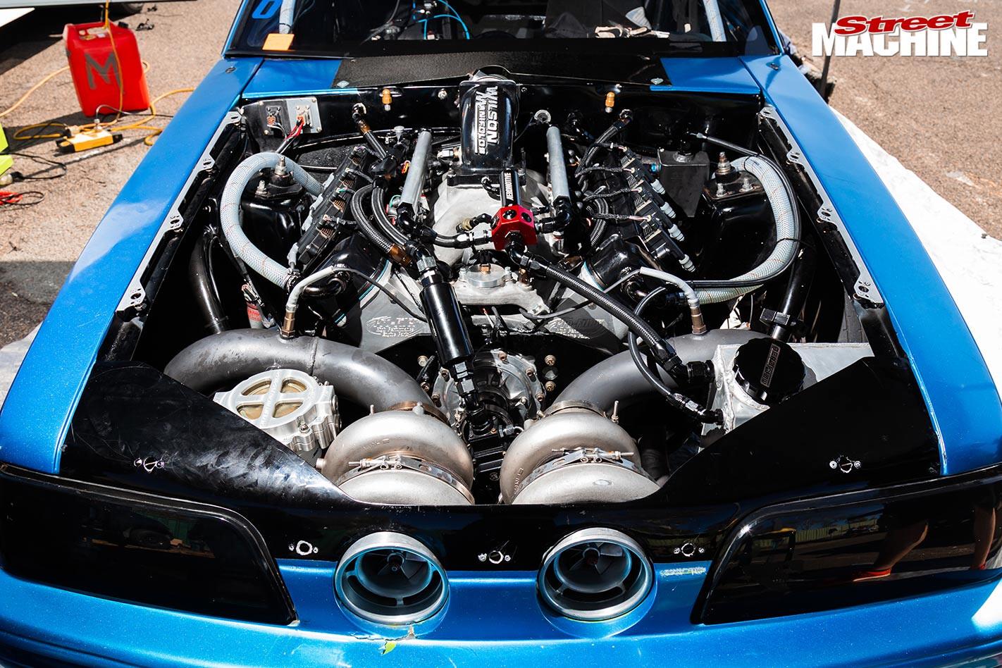 fox body mustang engine bay