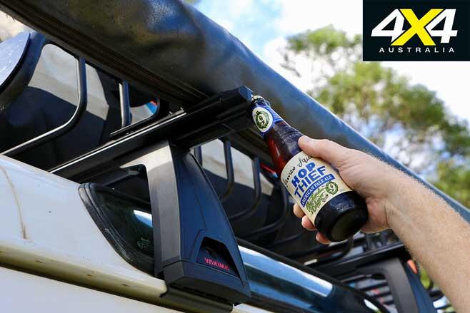 Yakima LockNLoad crossbar roof rack accessories bottle opener