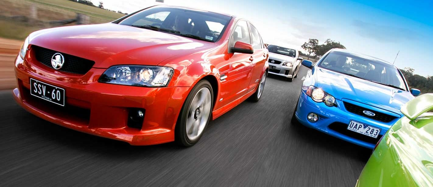 2006 Holden VE Commodore SS SS V Ford Falcon XR8 XR6T comparison