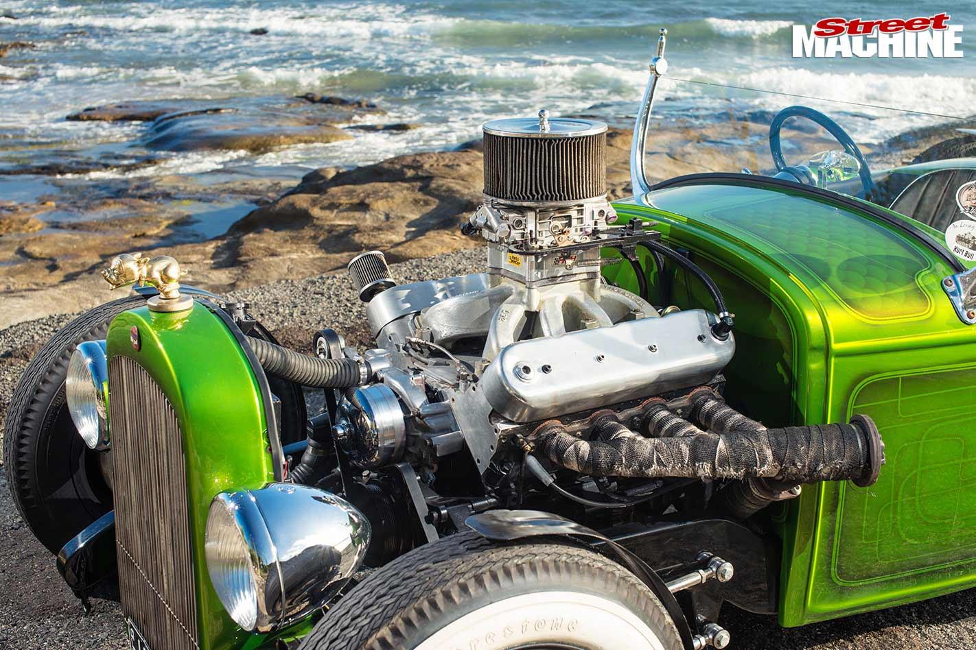 LS powered hot rod engine