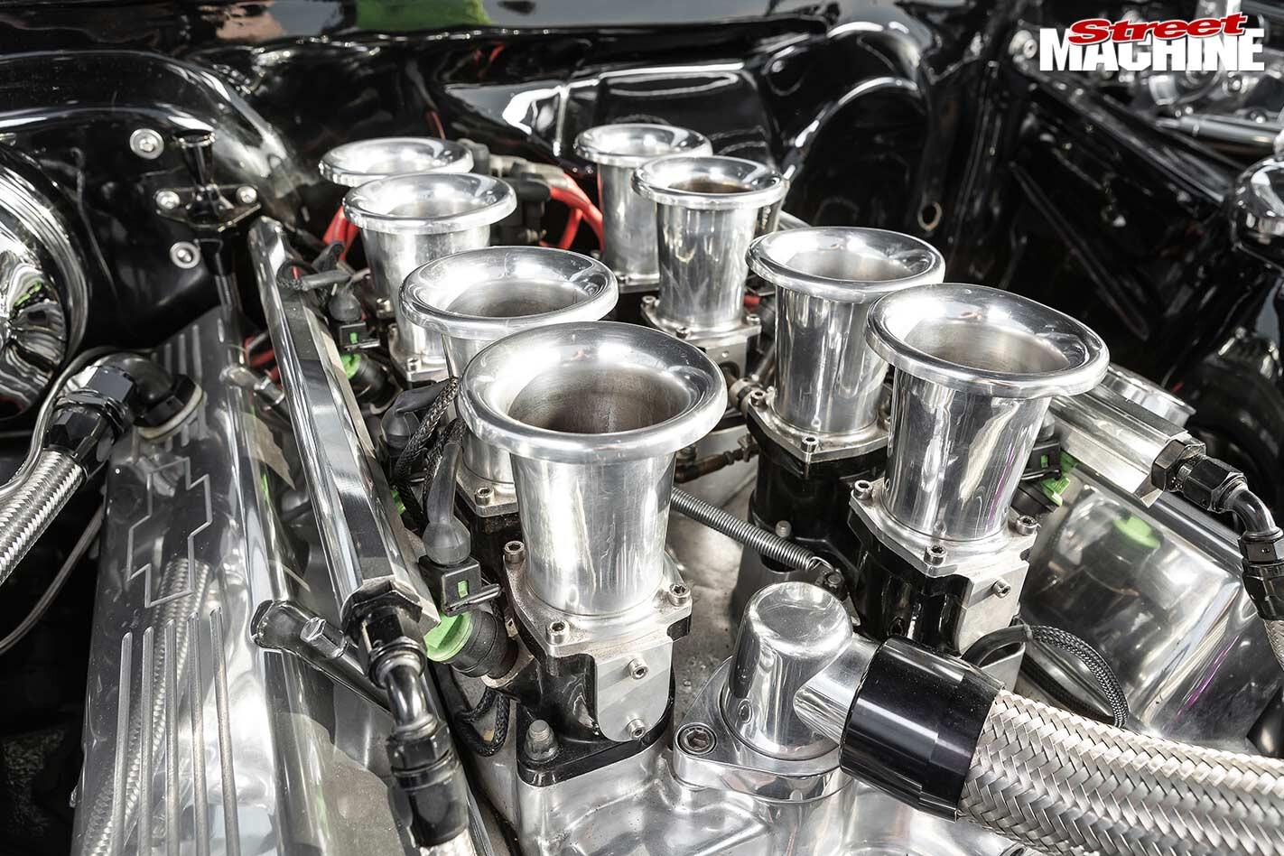 Chevrolet nova engine bay