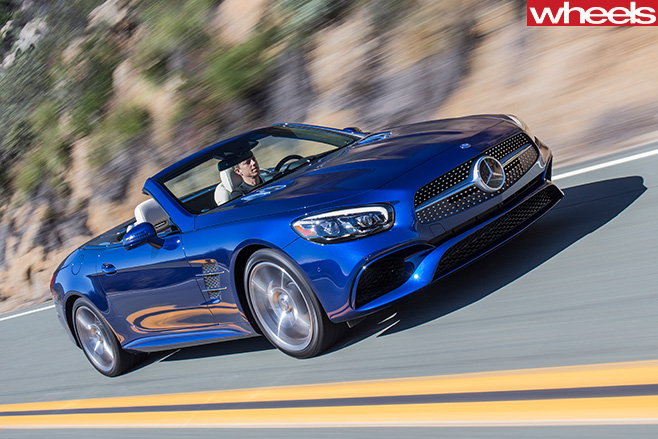 Mercedes -SL500-driving -front -side -driving
