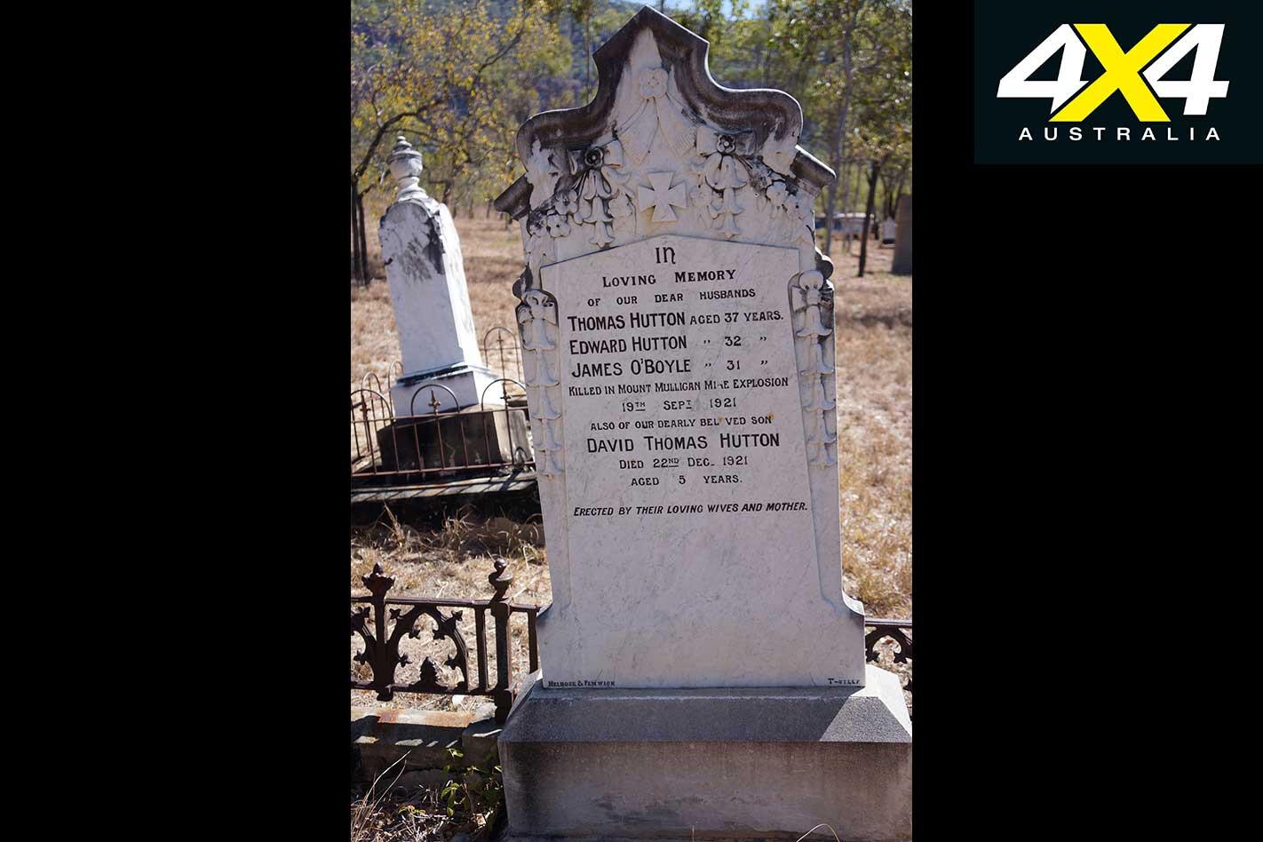 Finding Australia History In Cemeteries Mt Mulligan Grave Jpg