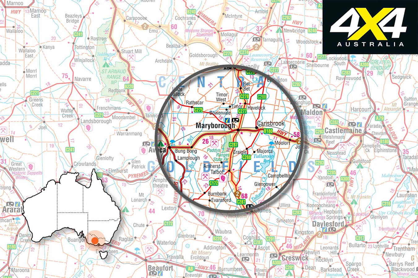 4 X 4 Trip To Paddys Ranges State Park Vic Map Jpg
