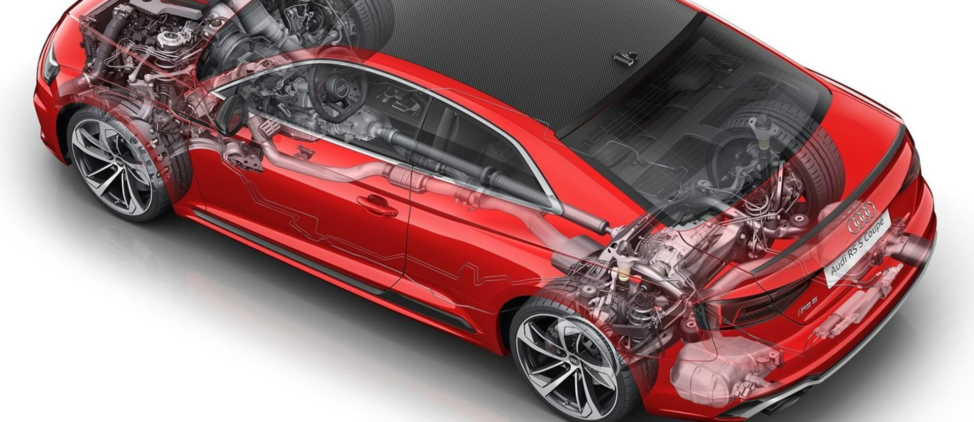 2018 Audi RS5 Coupe cutaway