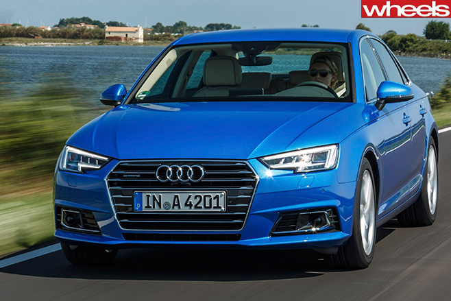 Audi -A4-First -Drive -front -of -car