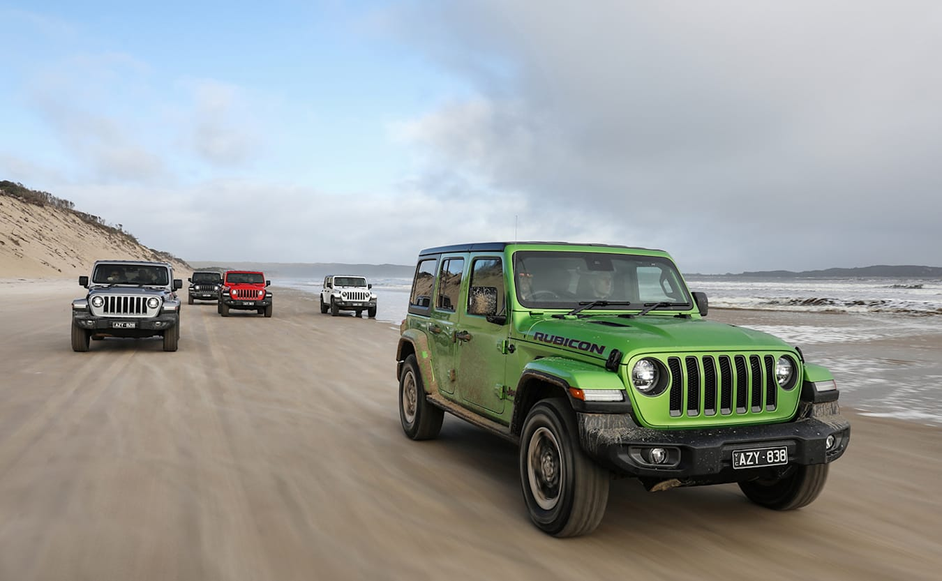 All of the international specification Wranglers are fitted with the ZF-sourced eight-speed automatic transmission and the most common engine is the latest incarnation of Jeep's Pentastar 3.6-liter V6 petrol mill.  That's not a bad thing as the engine makes a healthy 209kW of power and 347Nm of torque. The eight-speed TorqueFlight, as FCA brands like to call it, adds refinement and fuel economy to the new Wrangler which otherwise will feel very familiar to anyone who has spent time with the previous JK model.  The Wrangler takes its DNA from the original Jeeps of WW2, and the JK was the most successful civilian Jeep since, so the Yank off-road brand hasn't deviated too far from the proven formula.
