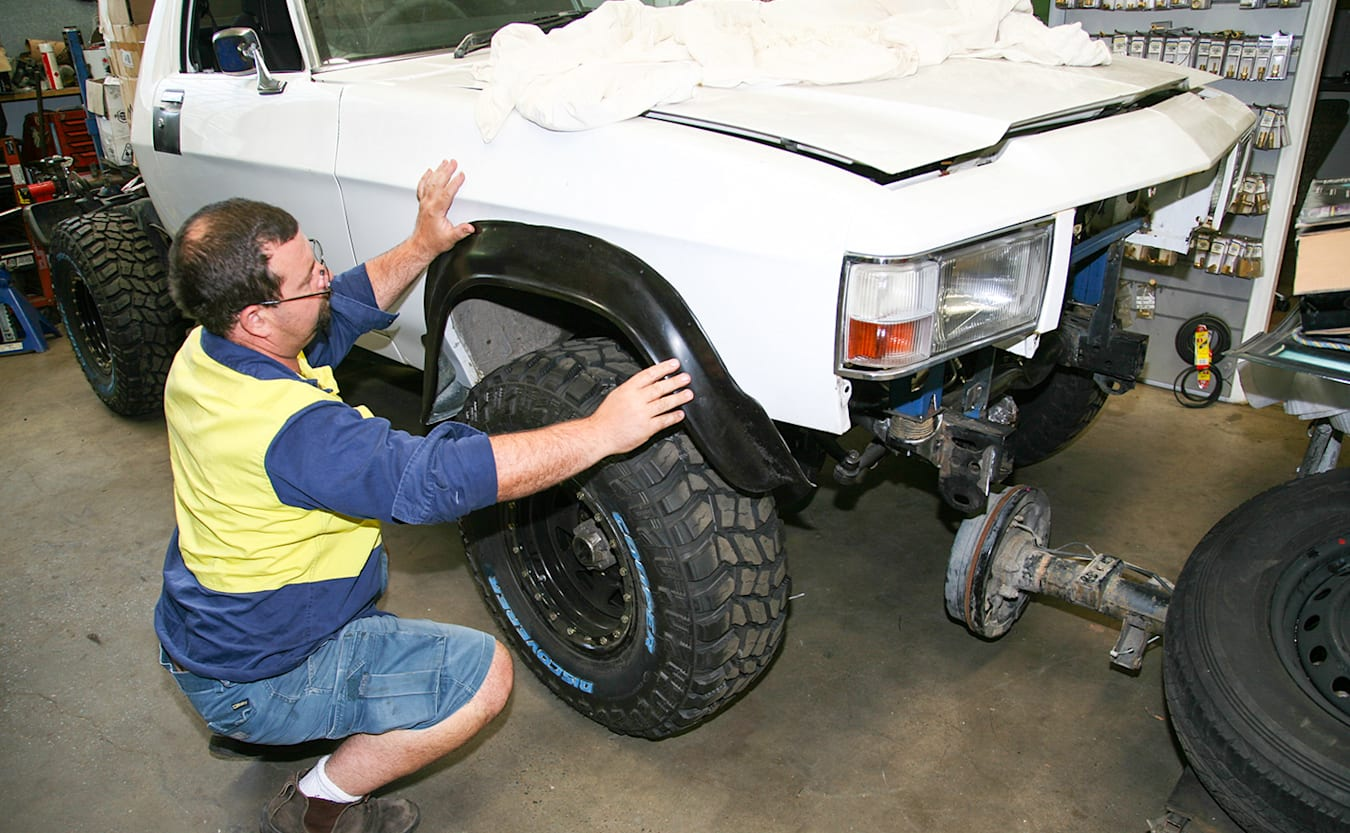 Holden 1 Tonner build  wheel