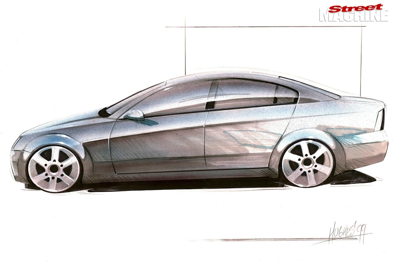 Holden Commodore VE sketch
