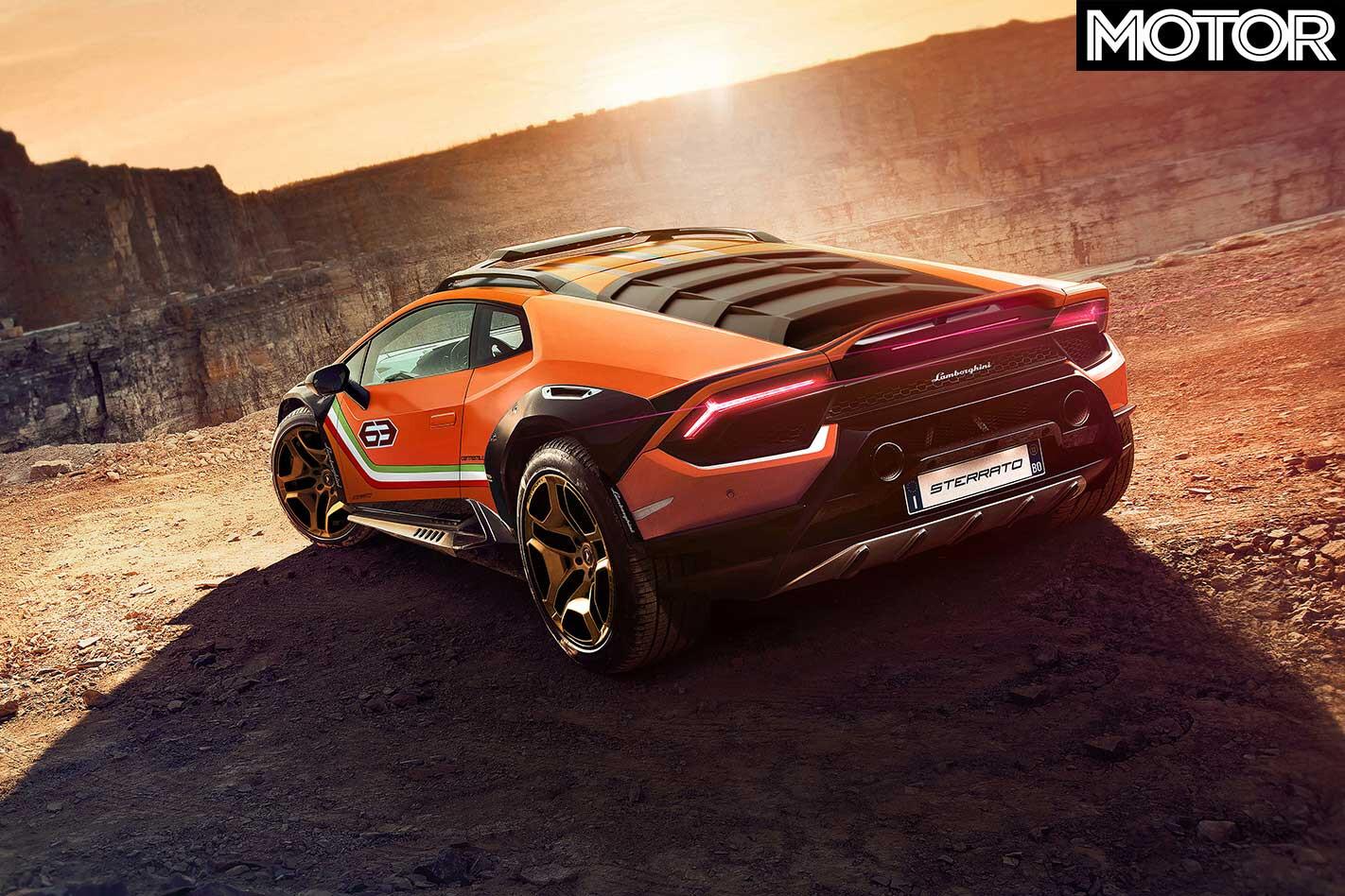 Lamborghini Huracan Sterrato Rear Jpg