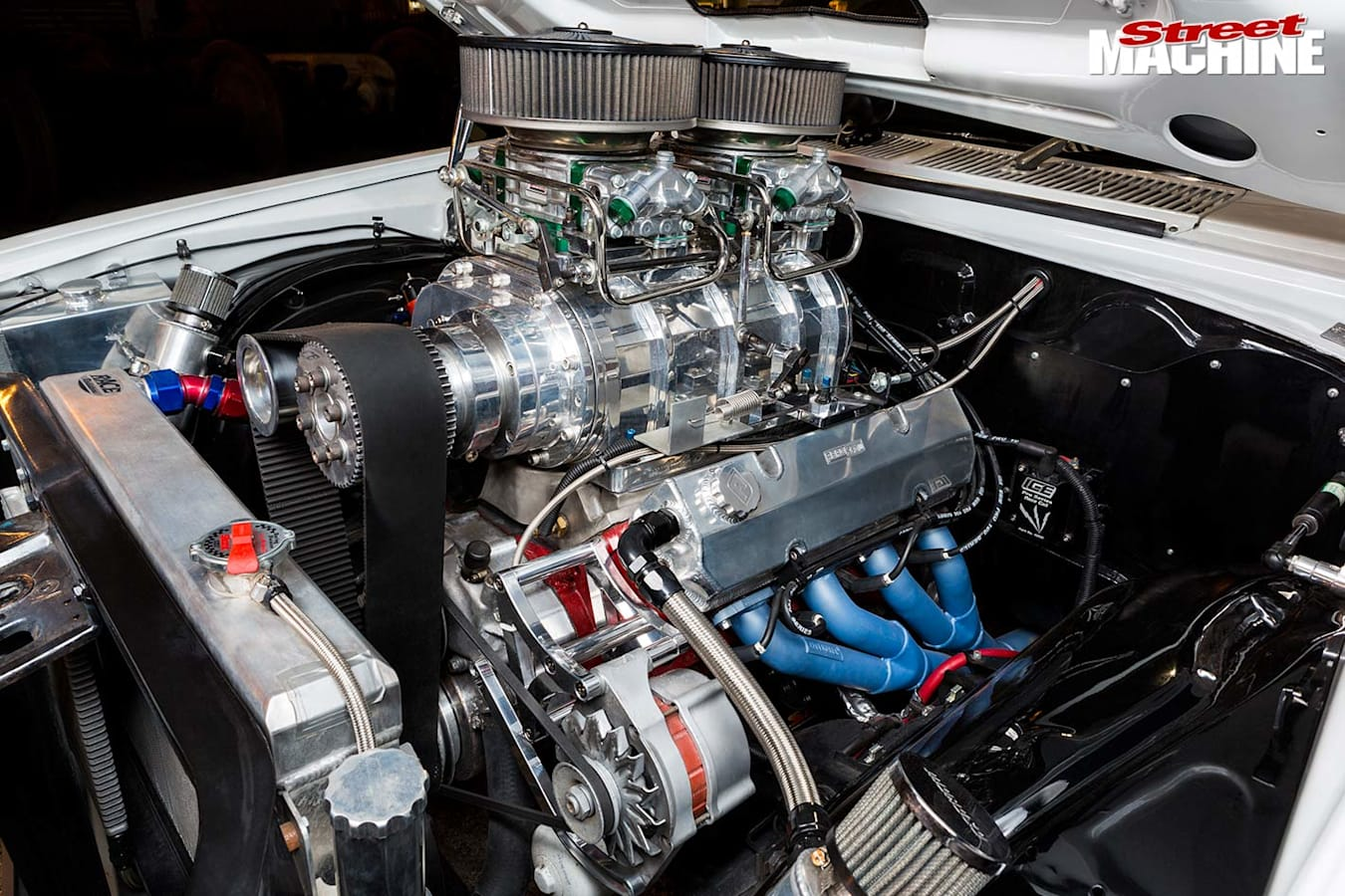 Holden HZ engine bay