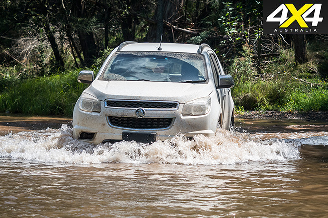 Holden colorado front water driving