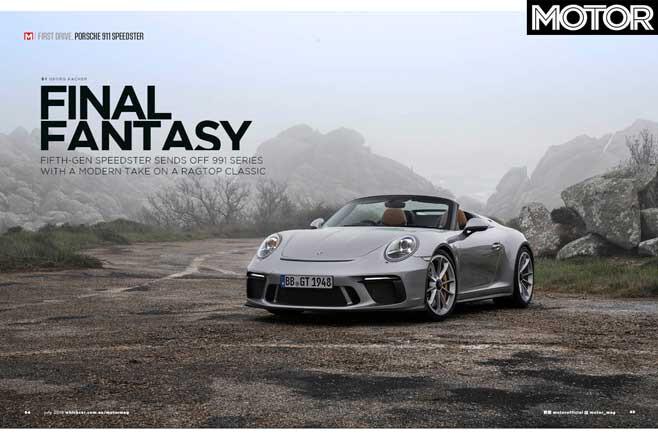 MOTOR Magazine July 2019 Issue Porsche 911 Speedster Jpg