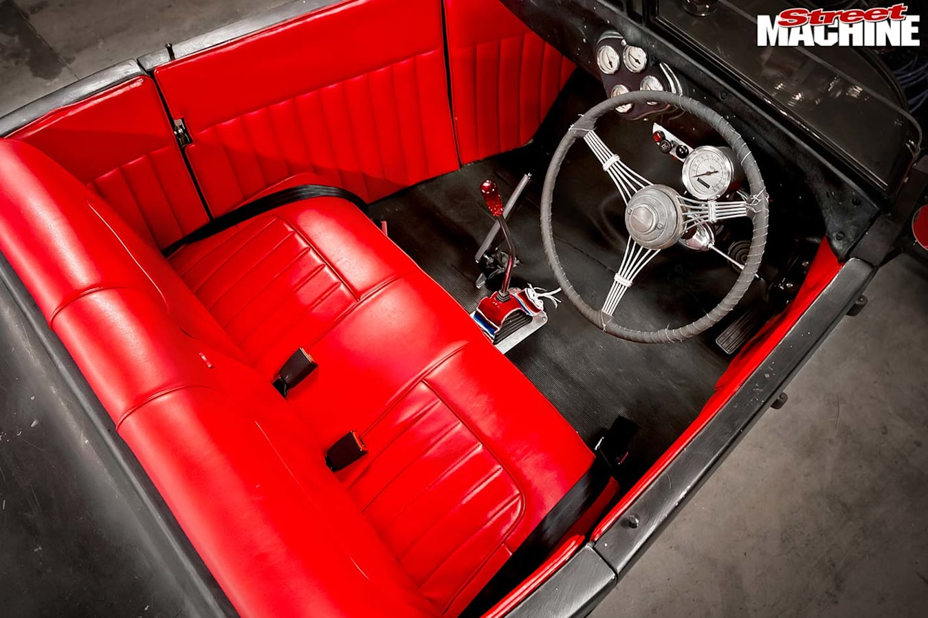 Ford Model A roadster interior