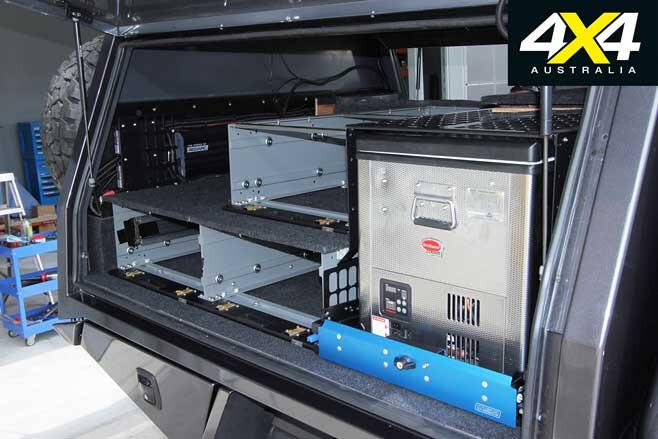 MSA 4 X 4 Custom Toyota LC 200 6 X 6 Update 5 Rear Canopy Storage Jpg
