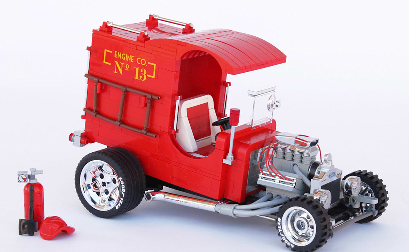 Lego fire truck ford c cab