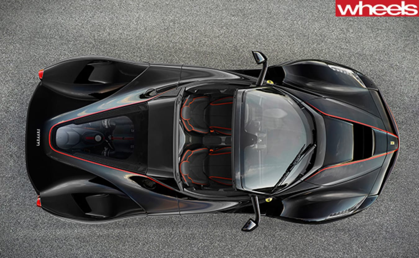 Ferrari -La Ferrari -convetible -top -view