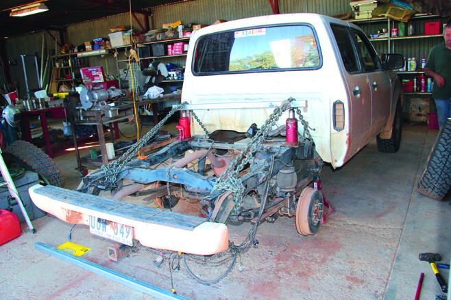Broken Chassis Repair At Mt Dare  (5)