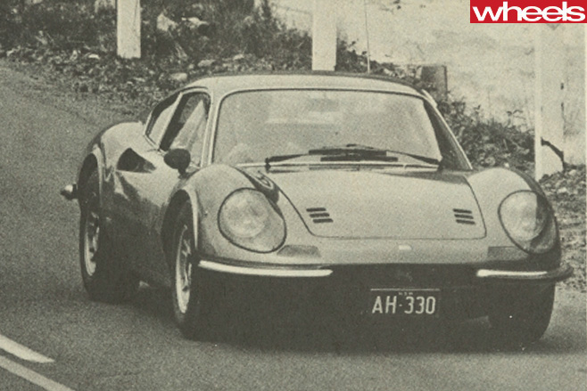 Ferrari -Dino -246-GT-driving -front -side