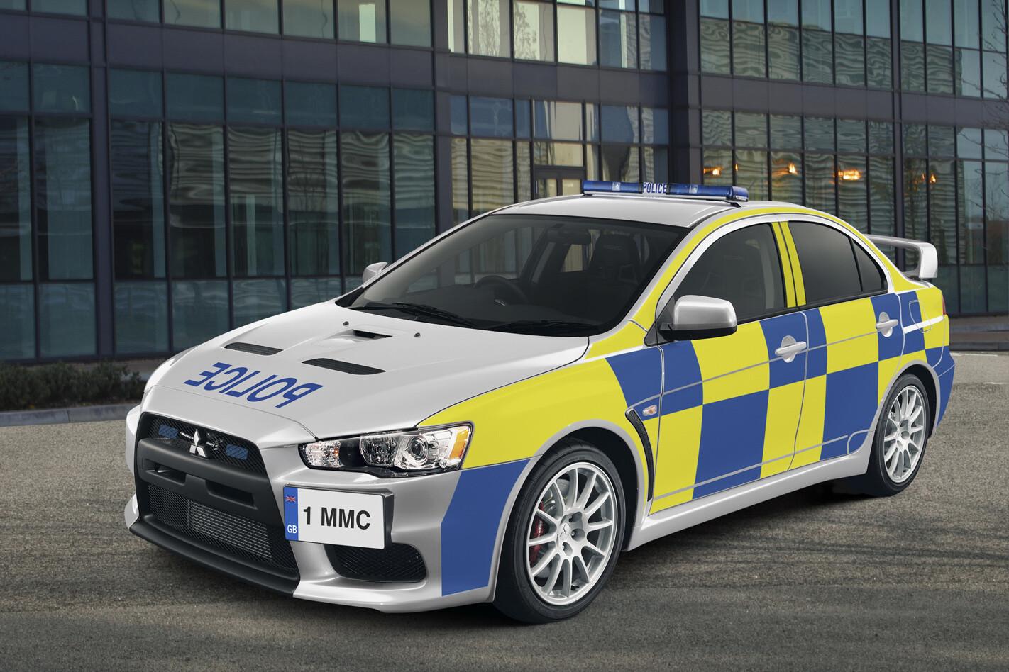 Mitsubishi Lance Evo X police